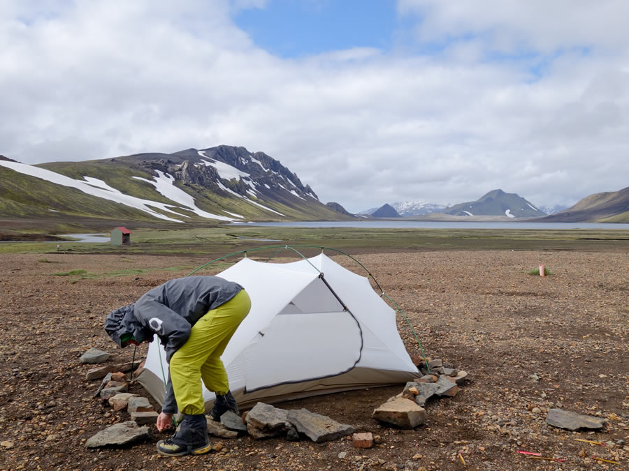 My tent was supplied with two guylines but I note that more recent sales have shipped with four. The guylines attach onto each end and I ran mine through ... & MSR Hubba Hubba HP Review   George Cave - 67hr Adventures